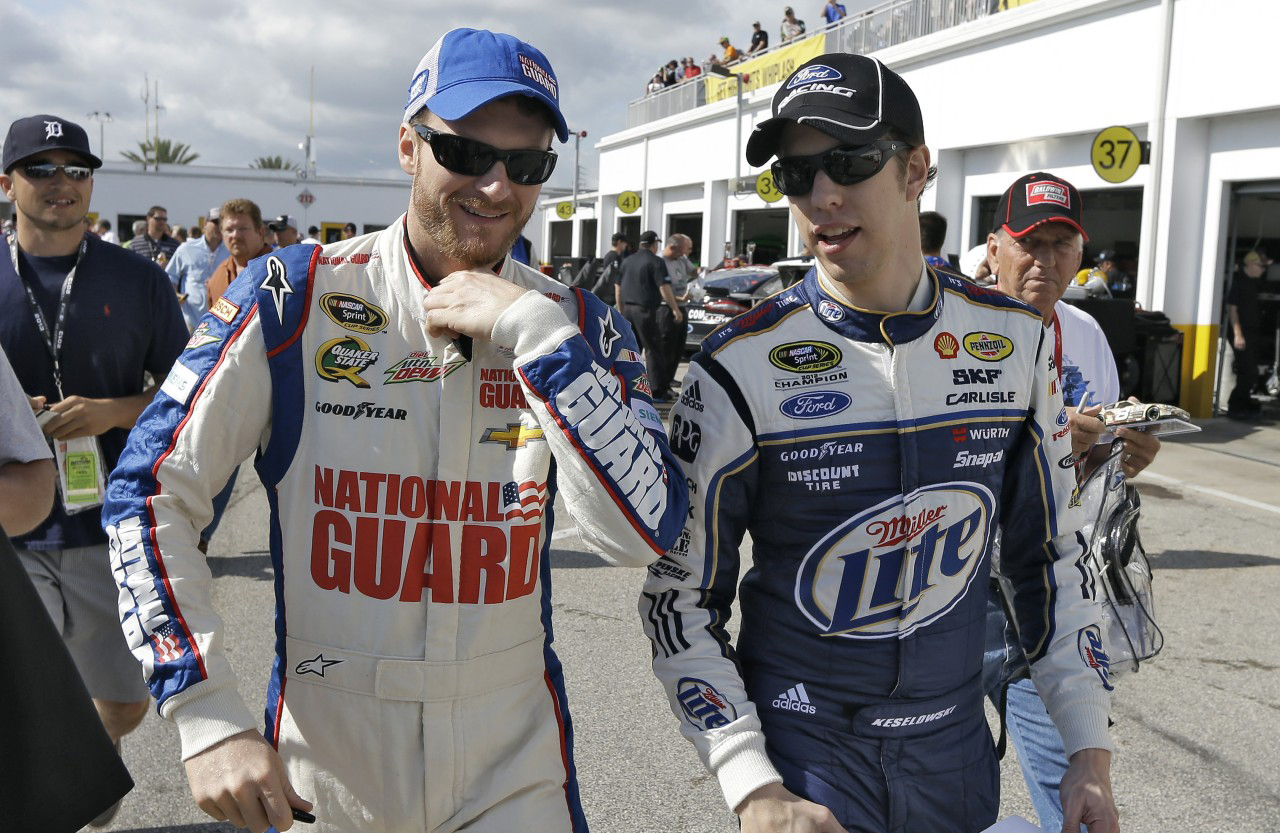 DALE JR. IS A GOOD FRIEND AND I'LL ALWAYS BE GRATEFUL TO HIM FOR GIVING ME MY BIG BREAK IN RACING.