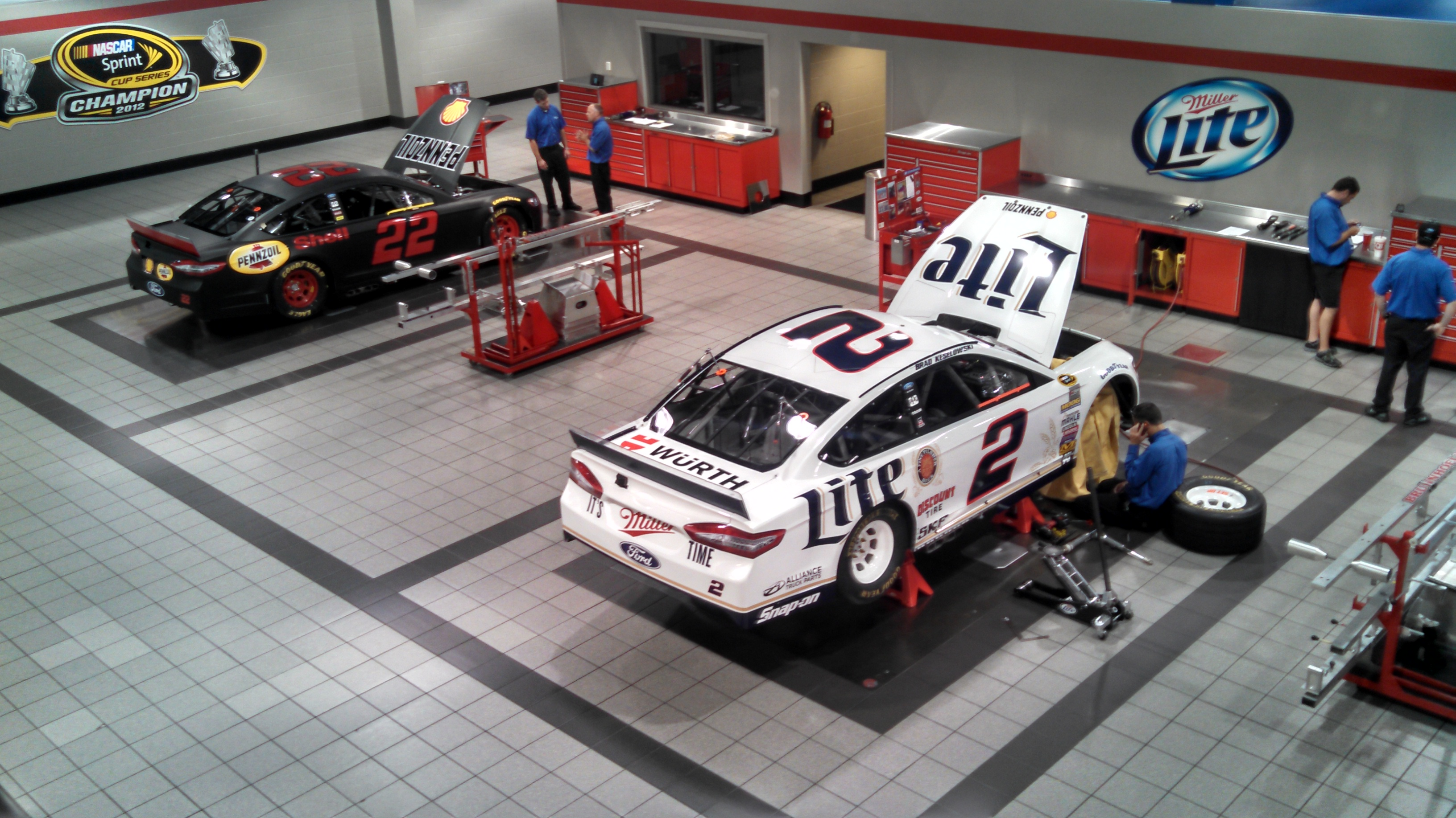 INSIDE PENSKE RACING TODAY.